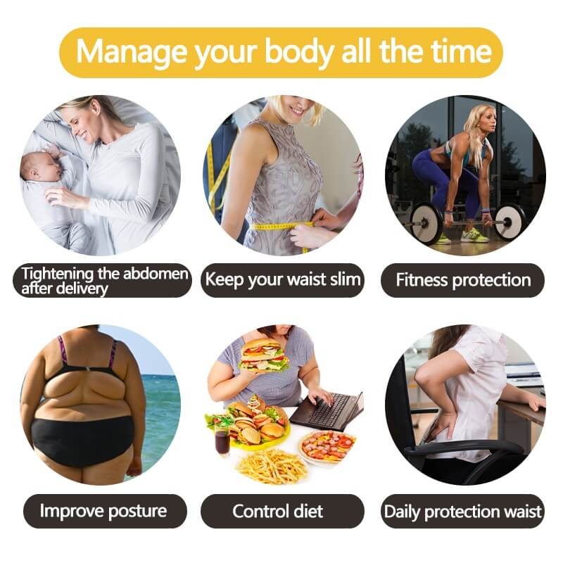 Designed to tighten the abdomen, it's good for postpartum, slimming the waistline, for fitness, increase sweat and fat loss, protection and improved posture