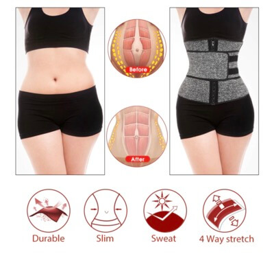 stretchy corset and waist training belt that will make you sweat and burn more fat