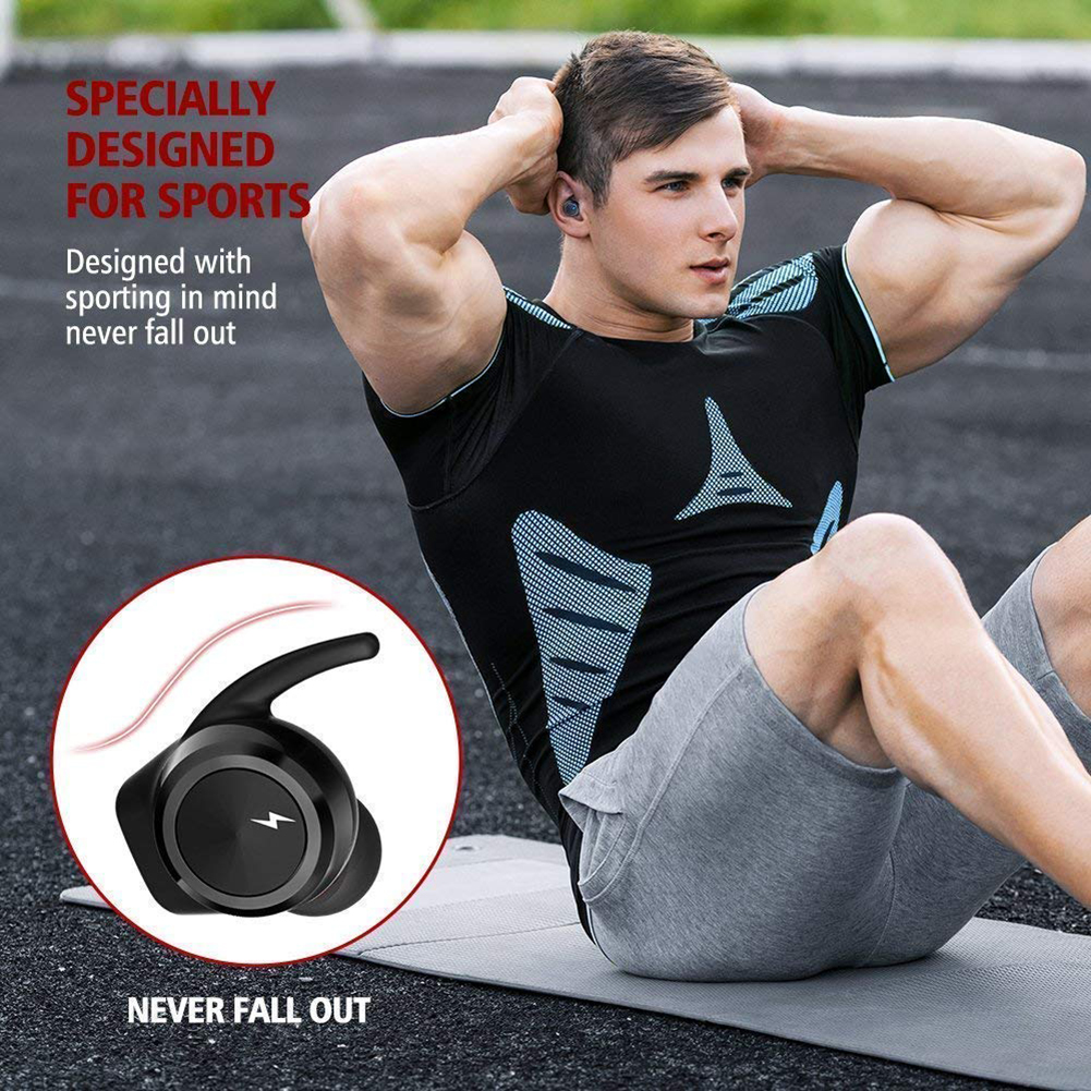 Wireless Mini Bluetooth Sport In-Ear Smart Charging Earbuds 6