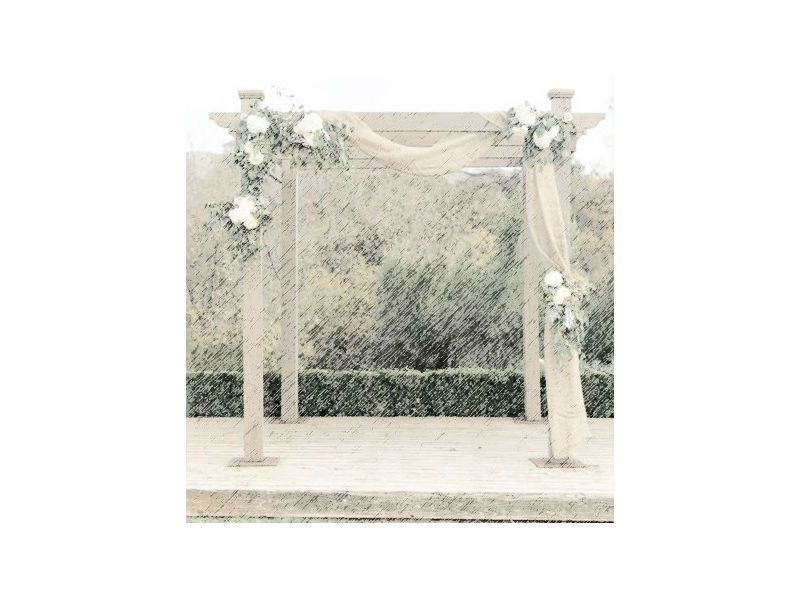 Jute wedding venue decoration