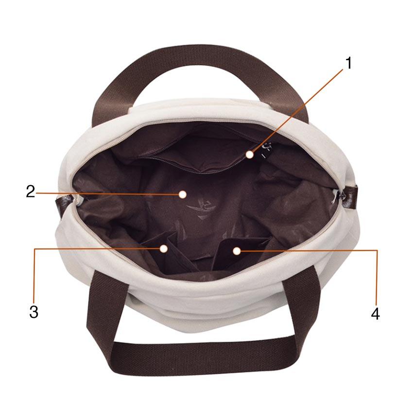 Petite Outback Canvas Messenger Bag