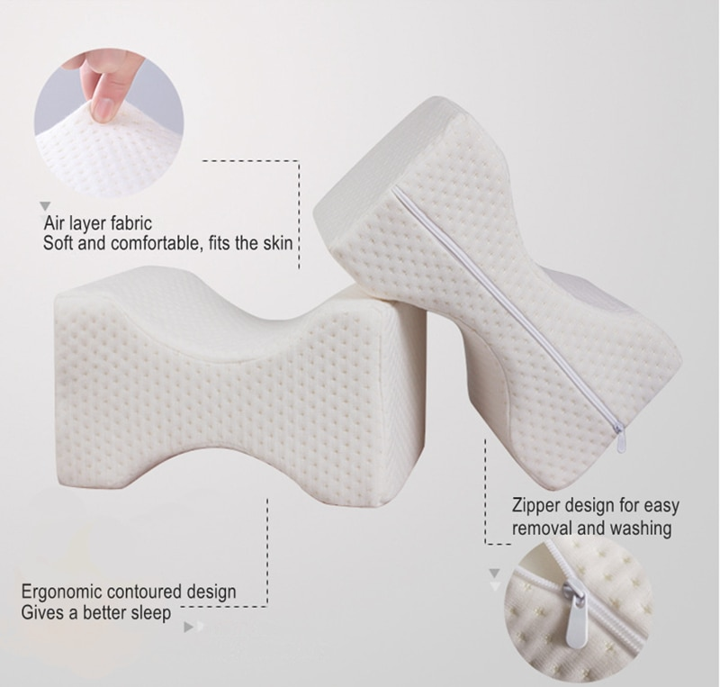Orthopedic Knee Wedge Pillow Pain Relief Leg Pad Support Cushion