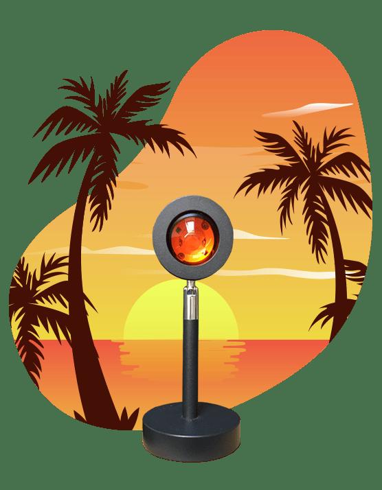 sunset lamp
