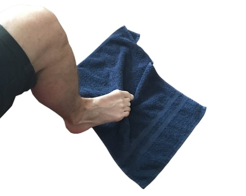 toe towel stretches